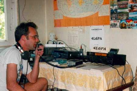 Allard, PE1NWL, operating 4L6PA